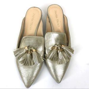 Ivanka Trump gold Tassel flats size 7